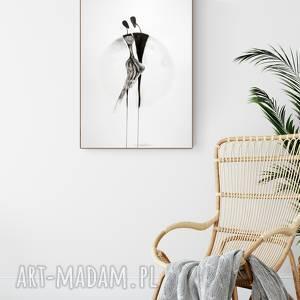 grafika 50x70 cm wykonana ręcznie, plakat, abstrakcja, elegancki minimalizm