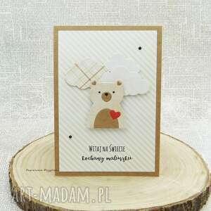 hand made scrapbooking kartki witaj na świecie - kartka dla maluszka