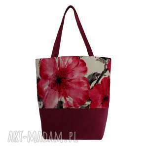 na ramię 38-0011 wielobarwna torebka eko zakupy shopper bag siskin, modne