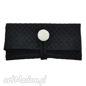 11-0004 Mała czarna torebka kopertówka wizytowa NIGHTINGALE, małe, torebki