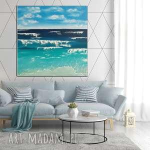 """""""morze"""" -abstrakcyjny obraz ręcznie malowany na płótnie"""
