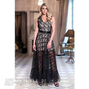 Sukienka Avril, ażurowa, studniówka