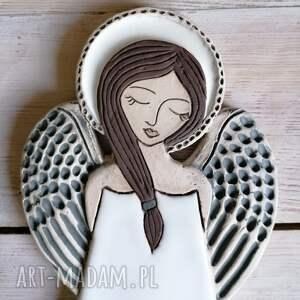ceramika anioł ceramiczny - pula, anioł, rękodzieło, chrzest, aniołek, prezent