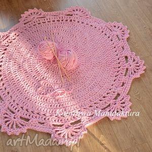 ręcznie robione dywany dywan princessa 100cm - dywan ze sznurka