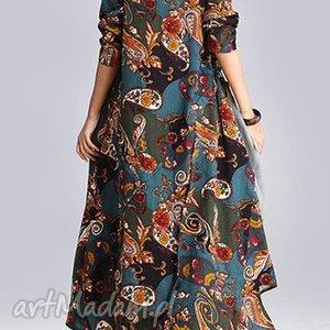 sukienka lniana w kwiaty absolutnie obłędna, sukienka, len, kwiaty, wiosna, plaza