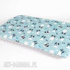 maskotki płaska poduszka minky - buldożki 40x60 cm, poduszka, poszewka, minky