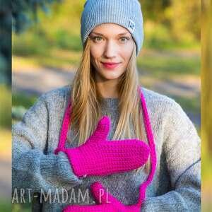 rękawiczki bunny pinky, rękawiczki, ciepłe zimowe
