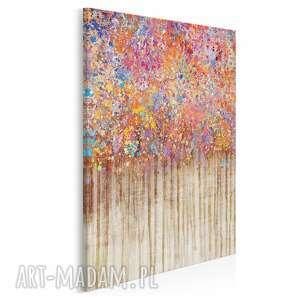 obraz na płótnie - kropki kolorowy abstrakcja w pionie 50x70 cm 72703