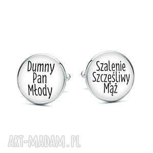 Spinki do mankietów z grafiką dumny pan młody laluv mąż