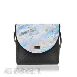 ręcznie robione na ramię torebka z wymiennymi klapkami puro classic 1504 spilled paints