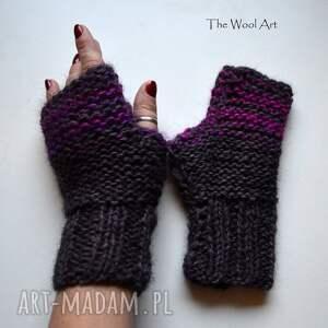 rękawiczki mitenki - rękawiczki, mitenki, wełniane, naręce
