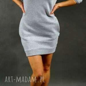 DreSówka szara , dresowa, tunika, sukienka, kieszenie, ciepła