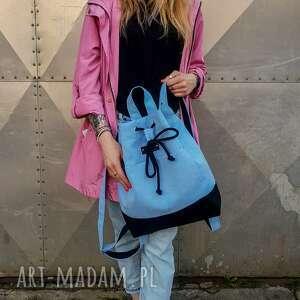 Plecak baby blue godeco plecak, boho, blue, worek na wycieczkę