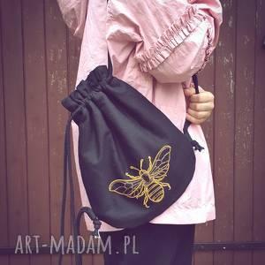 plecak worek mini pszczoła, haft, plecak, worek, plecakzpszczołą