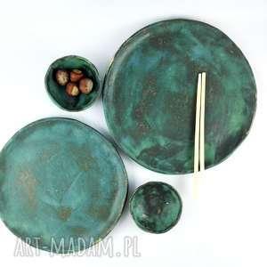 ceramika zestaw talerzy ceramicznych, patera, prezent, dekoracje, talerz, kuchnia