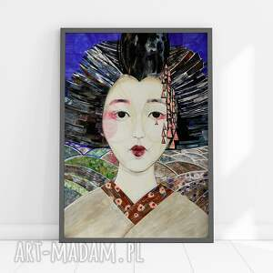 plakaty plakat a4 - geisha