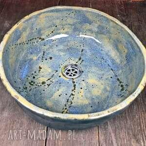 """Ceramiczna nablatowa umywalka """"ślady"""" ceramika ceramystiq studio"""