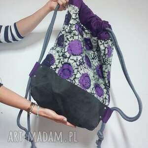 ręcznie zrobione plecak purple haze