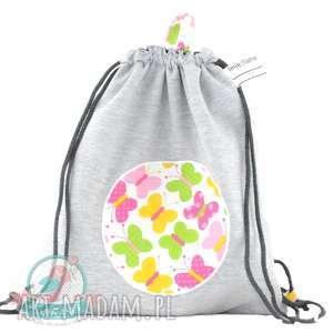 Worek-plecak wodoodporny z dresu motylki, worek, plecak, szkoła