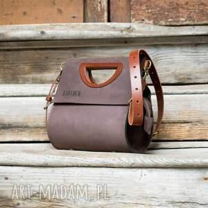 hand made skórzana damska torebka łezka wykonana ręcznie, duża do biura od ladybuq art