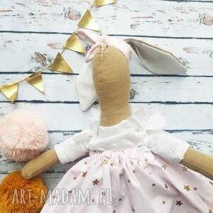 handmade lalki pani królik z wyszytym imieniem