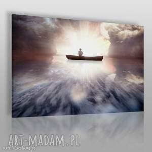 obraz na płótnie - morze łódź 120x80 cm 30501, łódź, morze, woda, ocean, pejzaż