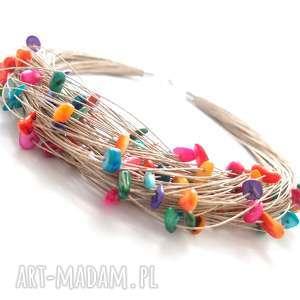 hand-made naszyjniki naszyjnik lniany dardia - len