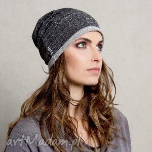 Dzianinowa Dresowa Czapka Gray Anthracite, czapka, dresowa, szara, czarna