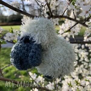 turkusowa owieczka - brelok, zawieszka do torebki, owca, owieczka, brelok