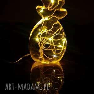 lampka led - ananas, lampka, ozdobna, żywica epoksydowa, pokój