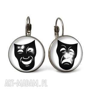 autorskie kolczyki maski teatralne - duże kolczyki wiszące