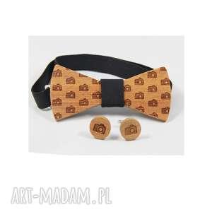 Zestaw #3 muchy i muszki the bow ties mahoń, drewno, muszka