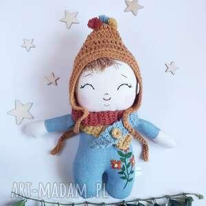 lalki lalka leśny skrzat -pomponik, skrzat, bobas, mała lalka, ekologiczna