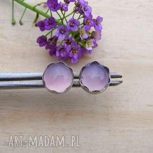 jewelsbykt liliowe kwiatki, srebro kolczyki, kolczyki sztyfty, sztyfty