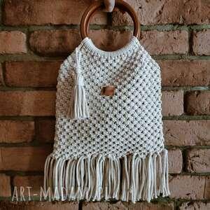 torebki torebka boho listonoszka damska makrama pleciona, pleciona