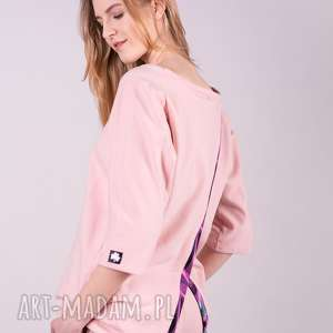 bluzka damska dresowa anna-róż, bluzki, spodnie, kurtki, bluzy, sukienki