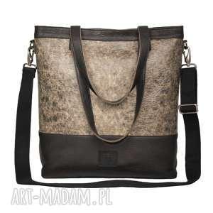 Prezent lekka, gustowna skórzana torba w charakterze worka, torby, torebka, worek