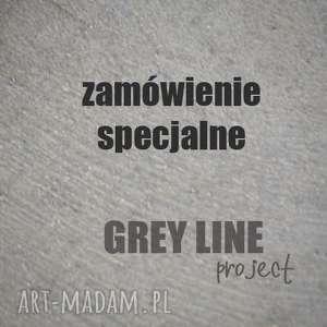 Zamówienie specjalne - komplet z kamieniem księżycowym grey line