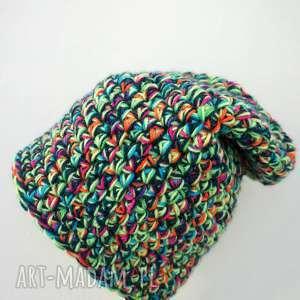 mimi monster czapka hand made no 020 / dziecięca krasnal, zimowa, ciepła, nie