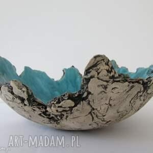 wybrzeże Sardynii - artystyczna misa, dekoracyjna, miska, ceramiczna, jak, skała