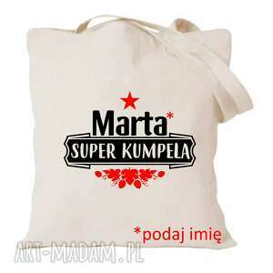 torba z nadrukiem dla przyjaciółki, psiapsi, kumpeli, prezent, urodziny, bff