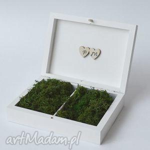 Prezent Pudełko na obrączki ślubne Rustykalne , pudełkonaobrączki, naturalne, vintage