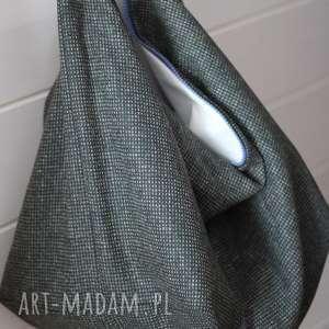na ramię torba wełniana xl, torba, torebka, damska, wełna, wełniana, podszewka