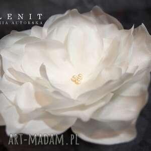 kwiat z jedwabiu, ślub, jedwab, kwiat, ozdoba, swarovski, perły