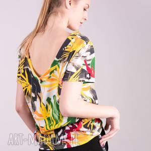 koszulki t-shirt damski klasyczny egzotyczny print, t shirt, bluzy, bluzka
