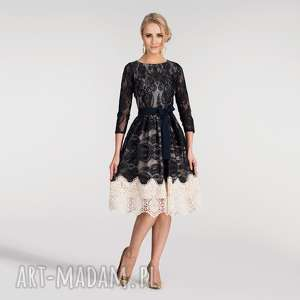 sukienki sukienka tina 3/4 midi matylda, na wesele