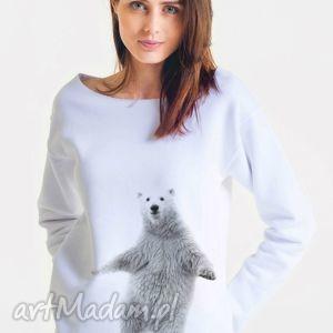 DANCING - bluza damska oversize biała, oversize, bluza, damska, moda, projektant