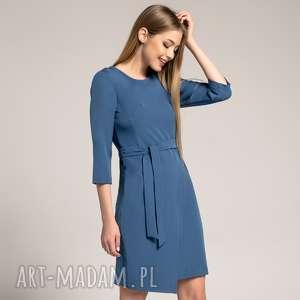 ręcznie wykonane sukienki sukienka kopertowa silena szafirowa