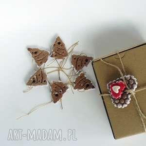 piernikowe choinki zawieszki choinkowe z kolekcji - dekoracja, zawieszka