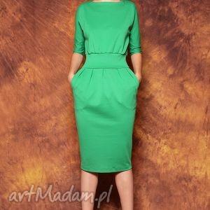 Zielona sukienka mono, sukienka, zielona, kasiamiciak, klasyczna, uniwersalna